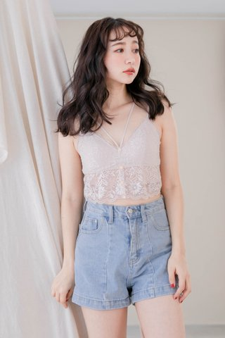 LITTLE MORE KOREA LACE BRALETTE IN BABY NUDE