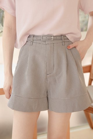 BUT MORE KR -5KG BELTED SHORTS IN CHECKERED