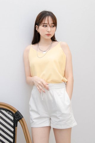 PEANUT CASUAL CAMISOLE TOP IN BABY YELLOW