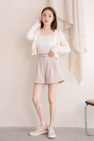 BAKED 365 DAYS KR EMBROIDERY FLORAL CARDIGAN IN CREAM (NG SALES)