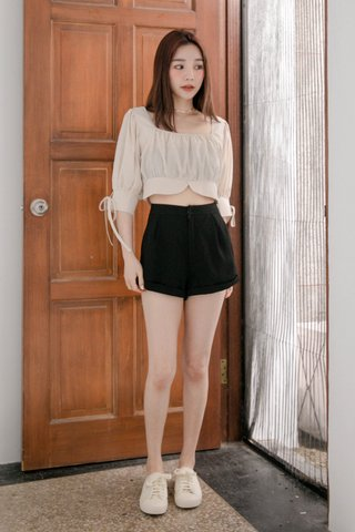 LATTE KR A'MADE SQUARE NECK TOP IN CREAM