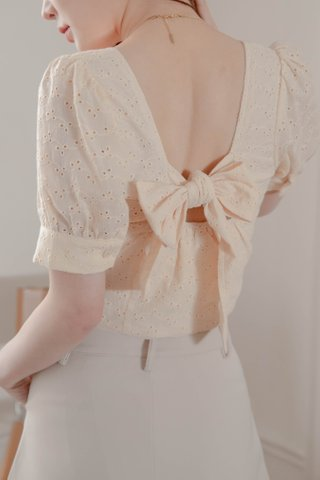 BUTTER TOAST KR EYELET FRENCH TOP IN BUTTER