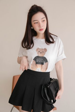 BUTTER TOAST KR BEAR TEE IN WHITE