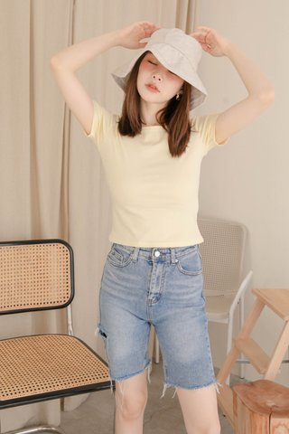 NINAA KR BASIC TEE IN BUTTER
