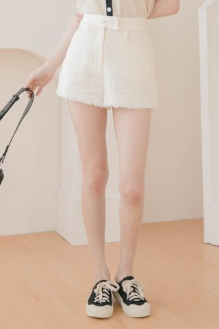 (BACKORDER S/M) EVERYDAY 365 DAYS TASSEL SHORTS IN HONEY MILK
