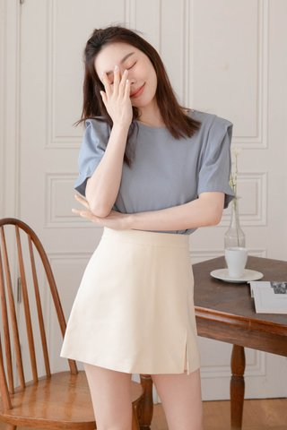 (BACKORDER) ALMOND HONEY KR PUFFY SLEEVE IN BLUE