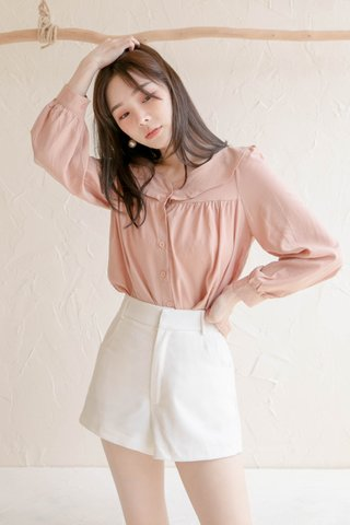 (BACKORDER) HONEY LOVE KR RUFFLED TOP IN BABY PINK