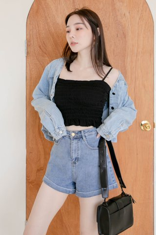 (BACKORDER) HONEY LOVE KR OVERSIZED DENIM JACKET
