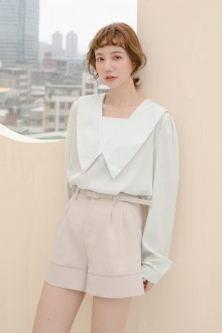 BUT HONEY KR FRENCH COLLAR BLOUSE IN BABY MINT