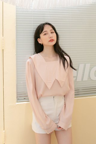 BUT HONEY KR FRENCH COLLAR BLOUSE IN BABY PINK