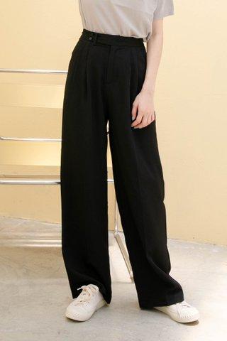 LEMON HONEY KR 170CM WIDE LEG PANTS IN BLACK