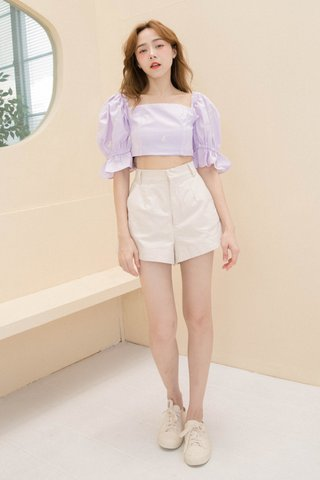 HONEY BAKED KR FLORAL EMBROIDERY TOP IN BABY YAM