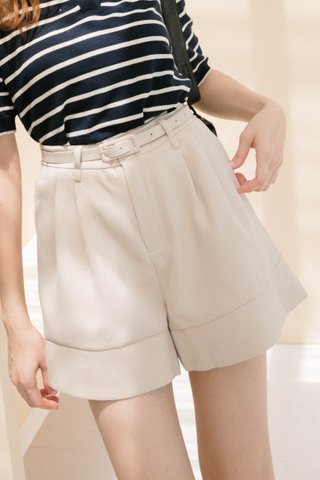 BUT MORE KR -5KG BELTED SHORTS IN CREAM (LITTLE A)