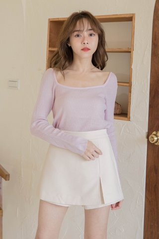 HIBISCUIT KR BASIC KNIT TOP IN LILAC