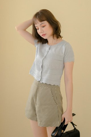 ALMOND BUTTER EYELET TOP IN BLUE
