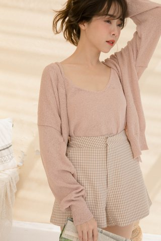 BUT FLUFY KR CARDIGAN SET IN CREAMY PINK
